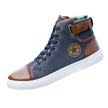 BESSKY Men Women Causal Shoes Lace-Up Ankle Boots Shoes Casual High Top Canvas Shoes _