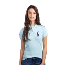 POLO RALPH LAUREN - Lacoste Mesh Polo Shirt Chatham Blue Ladies