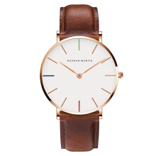 HANNAH MARTIN Leather Strap Watch 3690-B40