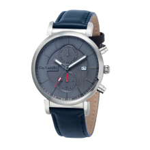 Moment Watch Guy Laroche GW-5026-02 - Jam Tangan Pria - Leather Strap Navy Blue