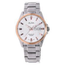 Alba Silver White Patterned Dial Stainless Steel Bracelet [AT2052X1] Silver