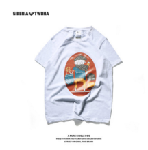 Ins V-270 Siberia Fashion T-shirt with BF design-White XXL