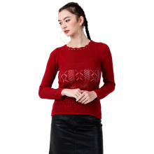 Sweater Nice Red Knitting Variation Mobile Power Ladies - MR301