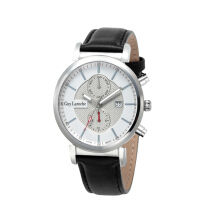 Moment Watch Guy Laroche GW-5026-01 - Jam Tangan Pria - Leather Strap Black