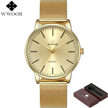 WWOOR Brand Luxury Men's Quartz Watch Men Waterproof Ultra Thin Clock Male Fashion Sports Watches 8832