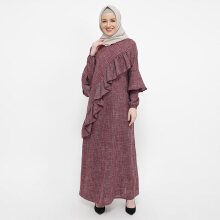 NAFEESA Kayisa Dress Maroon All Size