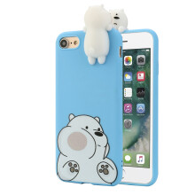 BESSKY 3D Cartoon Animals Cute Bare Bears Soft Silicone Case Skin For IPhone 7 4.7 inch_