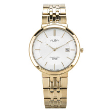 Alba Man White Dial Sapphire Crystal Gold Stainless Steel [AS9D72X1]