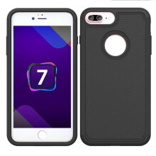 BESSKY Bling Hard Soft Rubber Impact Armor Case Back Hybrid Cover For Iphone 7 Plus 5.5Inch_