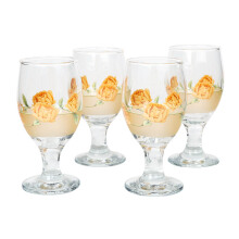 BRILIANT Goblet GM1044 Set Of 4 - Orange Flowers