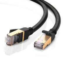 UGREEN Network Cable Ethernet Cable Cat7 Networking Cord Patch Cable RJ45 10 Gigabit 600Mhz Lan Wire Cable STP Black