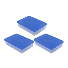 PLASTIK ONE Donutpack (S) - DP-0006 (Biru) Set of 3