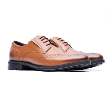 09714-Men formal lightweight bratheable casual leather shoes-Brown
