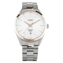 Alba Man White Dial Stainless Steel Watch [AS9D30X1] Silver