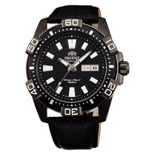 Orient Automatic Black Dial Black Leather Strap [FEM7R004B]
