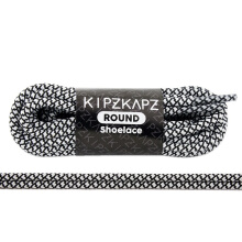 KIPZKAPZ RS47 Round Shoelace - Black White Web [4mm]