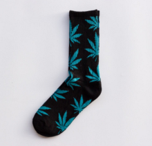 Cool My style CS-11 California skate city Maple leaf socks(about 19cm)-Black