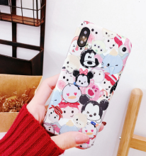 Ins I-34X TPU Disney's cute doodle cartoon IPHONE X case cover-Red