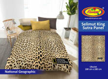 Selimut Rosanna King Sutra Panel 180x200cm National Geographic - Brown