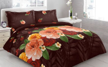 Sprei Bantal 4 Vito Disperse 180x200cm Roses - Brown