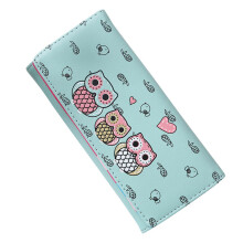 BESSKY Women Simple Retro Owl Printing Long Wallet Coin Purse Card Holders Handbag_
