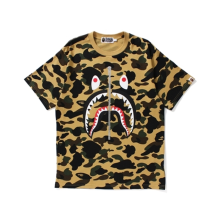Bape Yellow Camo Shark Tee