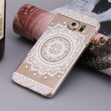 BESSKY Campanula Mandala Floral Dream Catcher Case Cover for Samsung Galaxy S7_ White