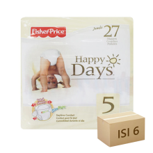 FISHER PRICE Popok Happy Days - Karton Isi 6 [Size 5 - 27]