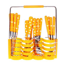 [free ongkir]RADYSA Sendok Set Polkadot 24Pcs - Orange Orange Not Specified