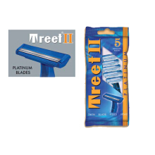 Treet II Disposable Razor Platinum isi 5pcs - Pisau cukur Silet Stainless Steel Platinum