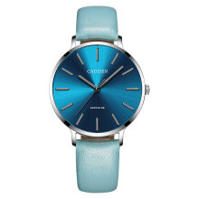 CADISEN C6136 Women Fashion Leather Band Quartz Wristwatch