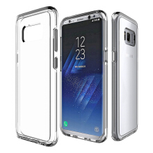 VEN Samsung Galaxy S8 Plus Case Hybrid Soft TPU Protective Shockproof Hard PC Frame Cover Transparent