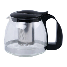 VIERA Glass Tea Pot 1250 ml TMS62-013 - Black