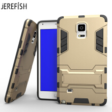 JEREFISH For Samsung Note 4 Case Slim Robot Armor Shockproof Rubber Back Case For Samsung Note 4 Phone Cover