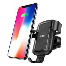 OAC 10W Car Qi Wireless Charger Fast Charging for iPhone X 7 8 Plus Car Phone Holder Air Vent Mount Stand for Samsung Galaxy S8 Black