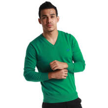 Fredperry Men- Green V-Neck Sweatshirt S