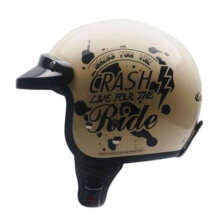 CARGLOSS CF Retro Army Retro Helm Half Face - Crash Ride Avorio Naide