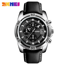 Skmei-9156 original fashion sports small three-pin quartz watch personality men's multi-function leather strap watch
