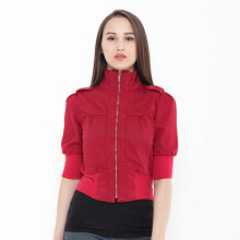 Mobile Power Ladies Bolero Jacket - Red B7179