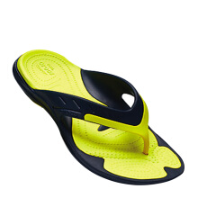 CROCS Modi Sport Flip - Navy/Tennis Ball Green