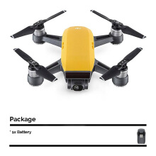 DJI Spark Mini Drone Fly More Combo with Extra Battery - Sunrise Yellow