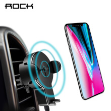 ROCK QI Car Wireless Charger Phone Stand for iPhone 8 X Samsung Galaxy S8 Note 8 Plus 5W Fast Wireless Charging 5W Black