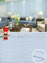 LUXURIOS - Wallpaper Stiker LUX 10-41 PRB - Motif Salur Biru - uk 45cm x 10 m
