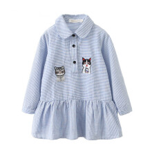 BESSKY Toddler Kids Baby Girl Clothes Long Sleeve Cartoon Stripe Party Princess Dresses_