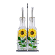 SINO Glass Tempat Minyak & Kecap Sun Flower set of 2