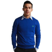 Fredperry Men- Blue Round Neck Sweatshirt