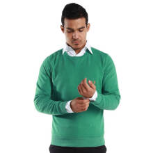 Fredperry Men- Green Round Neck Sweater wt Orange Laurel
