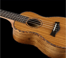 BWS 23 inch 4 Strings Ukulele Zebra Wood Concert Mini Acoustic Musical Instruments Handcraft Hawaii Small Guitar B-25 Wood Color