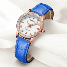 JENISES Women's Leather Strap Quartz Watch 1111