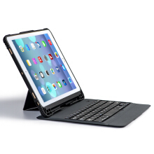 Smatton Bluetooth Keyboard Case ipad Air/Air2/Pro9.7/2017 ipad 9.7 Wireless Keyboard for Tablet Foldable Stand Cover Holder H08 Black